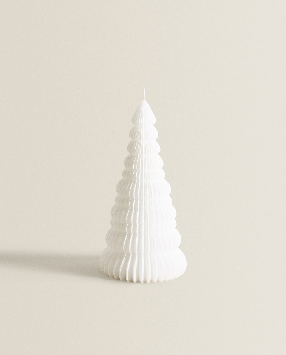 FIR TREE-SHAPED CANDLE