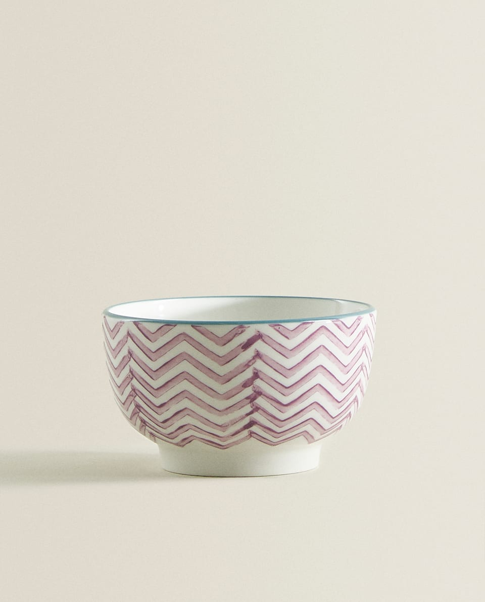 ZIGZAG PORCELAIN MINI BOWL