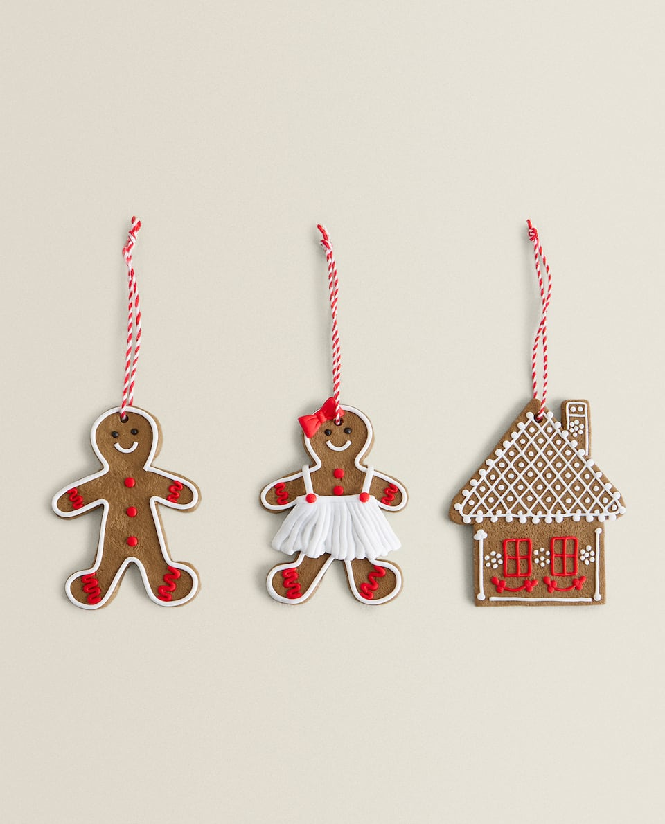 ASSORTED CHRISTMAS DECORATIONS (SET OF 3)