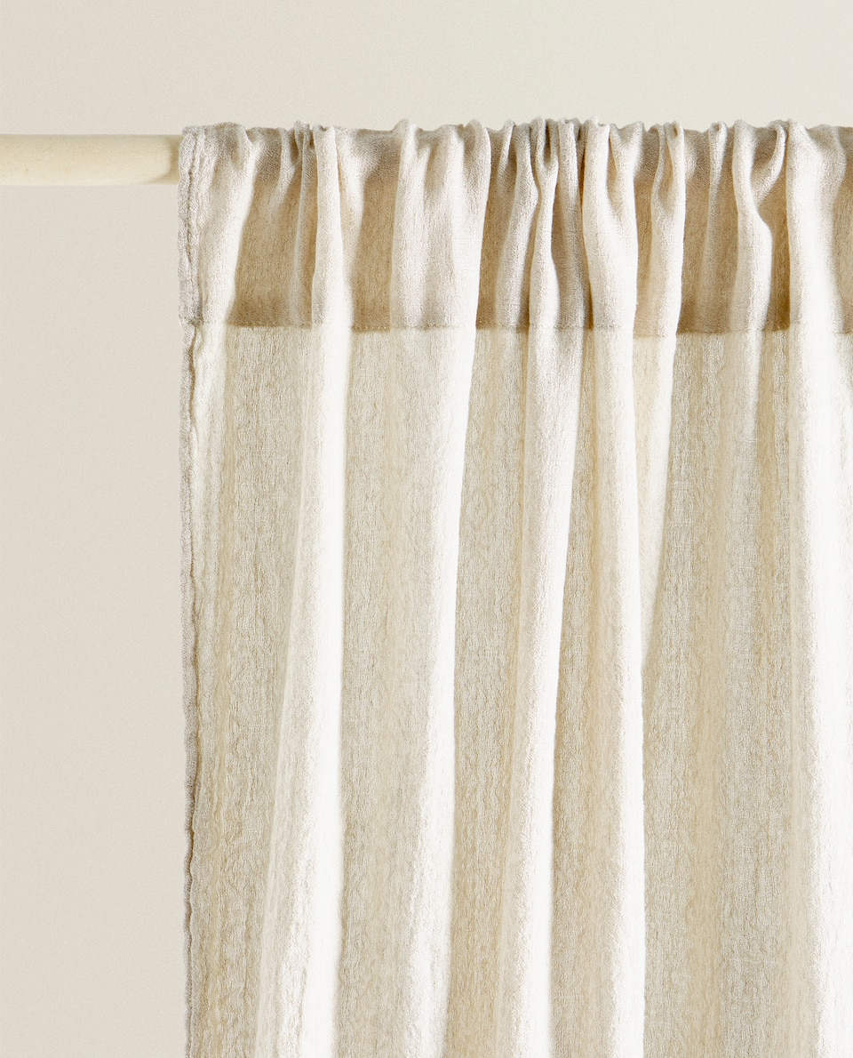 PLAIN LINEN AND COTTON CURTAIN