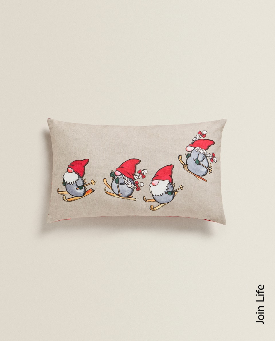 GNOME PRINT CUSHION COVER