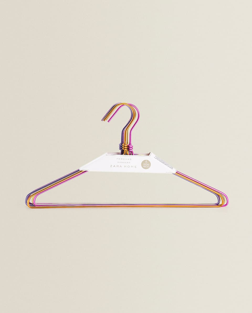 MULTICOLOURED HANGER (SET OF 5)