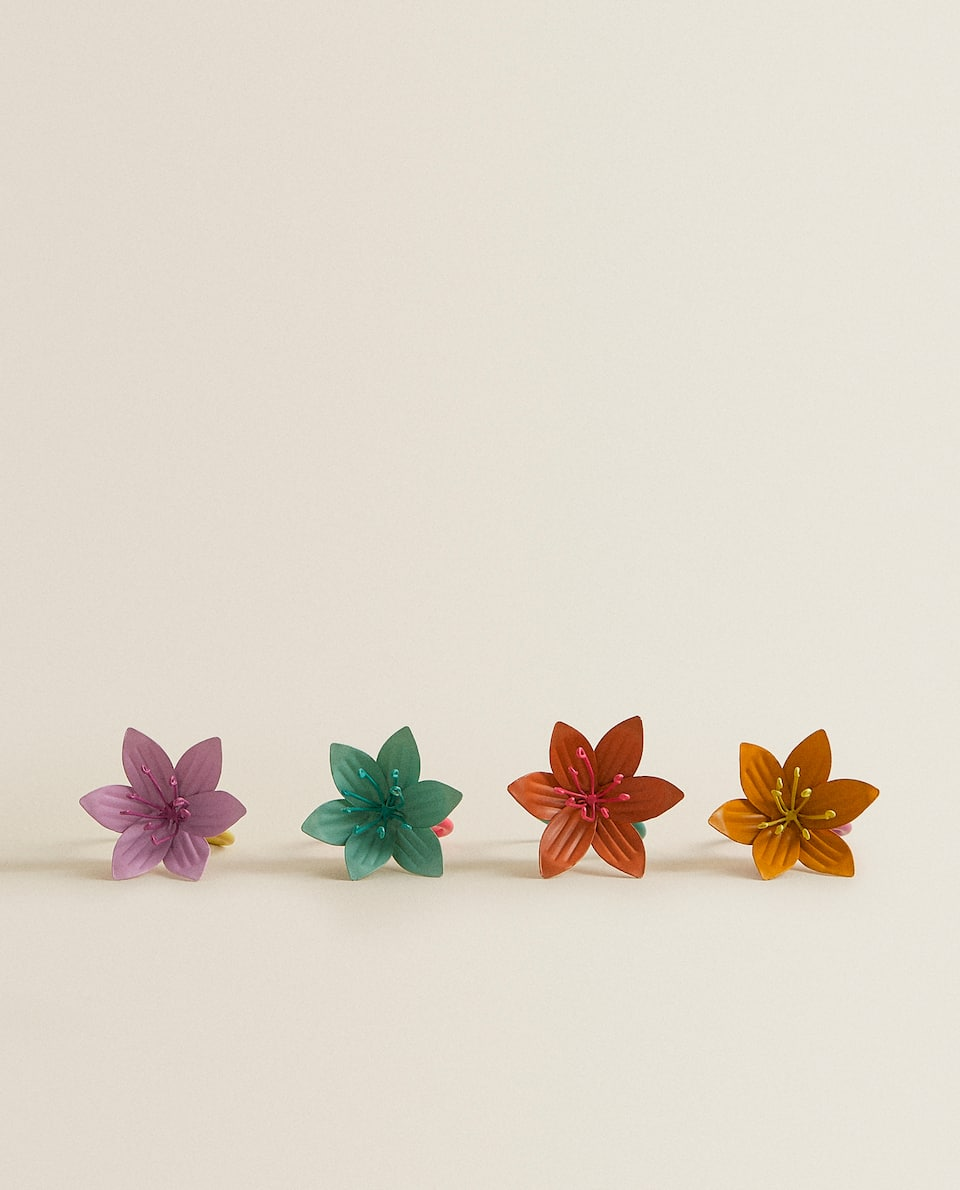FLOWER NAPKIN RING (PACK OF 4)