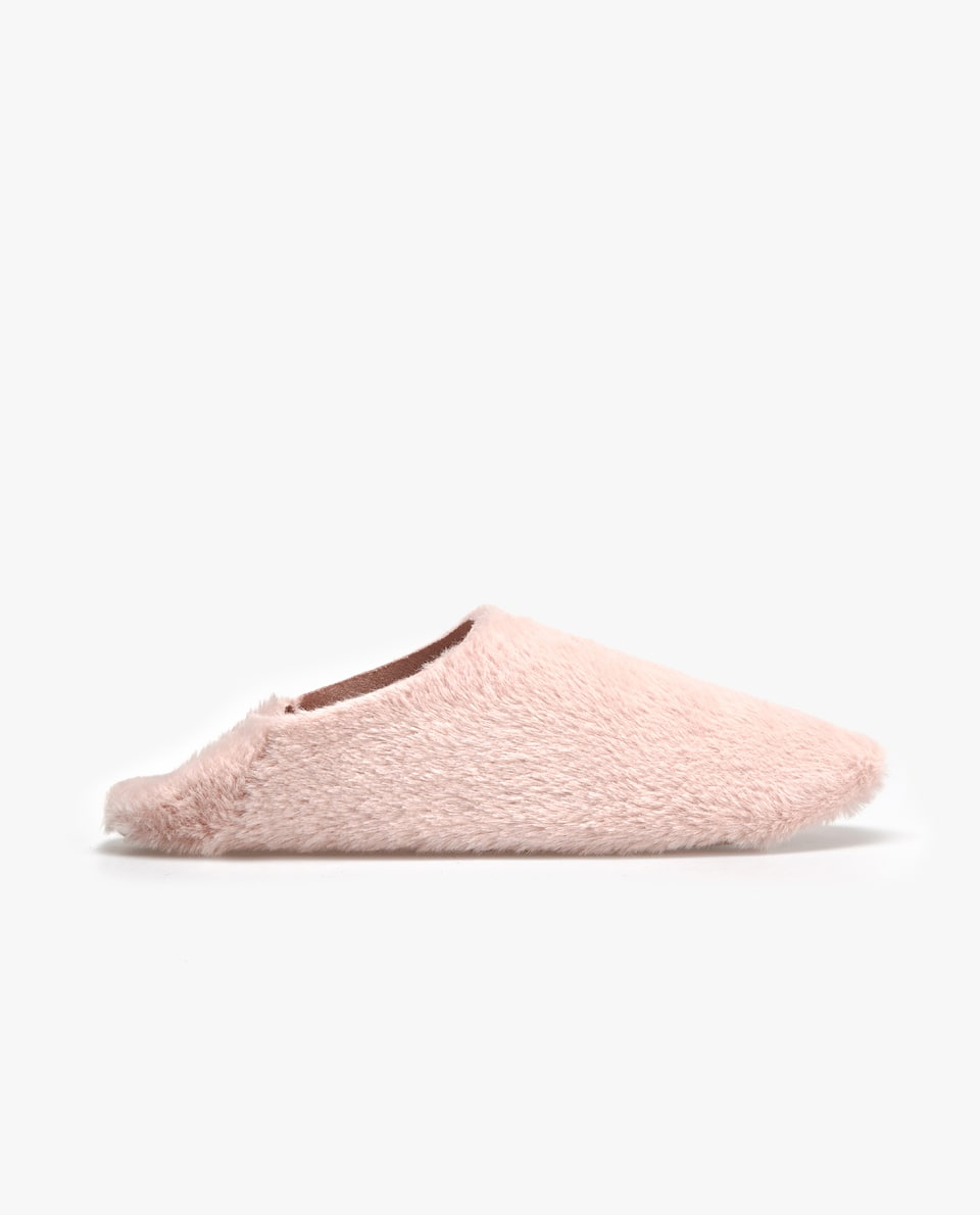COLOURED FUZZY BABOUCHE SLIPPERS