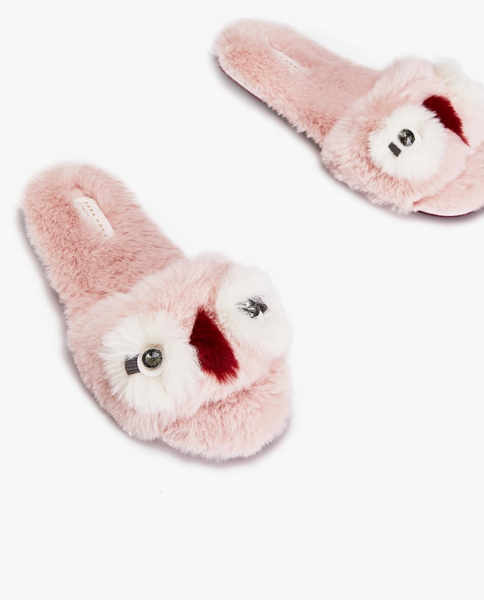 FURRY ANIMAL SLIPPERS