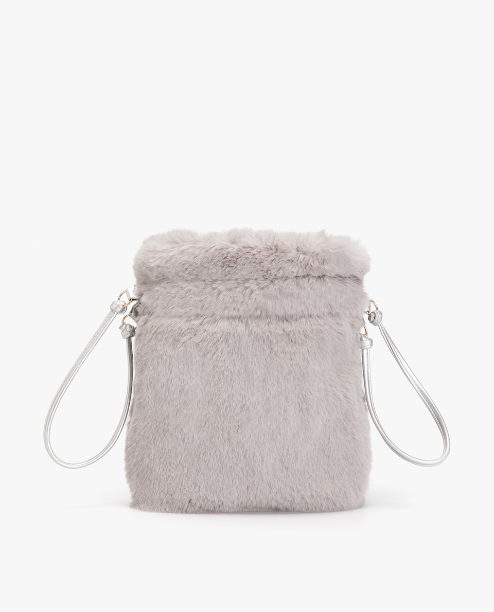 FAUX FUR CROSSBODY BAG