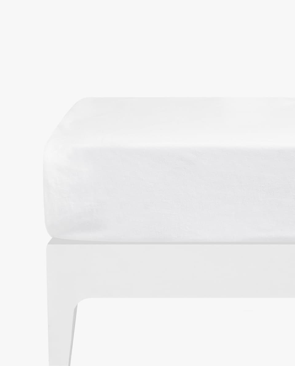 COTTON JERSEY FITTED SHEET (UP TO 11.8