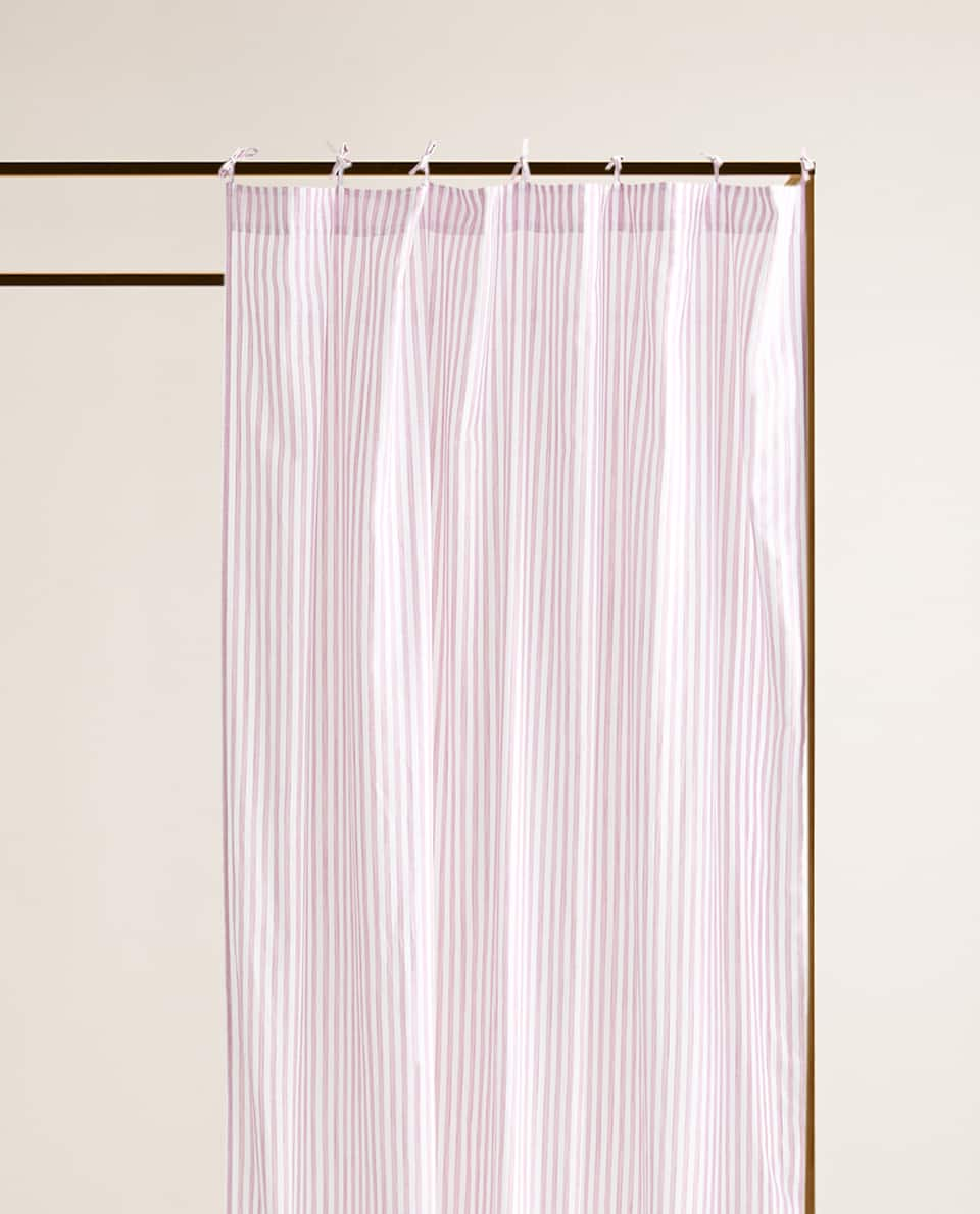 STRIPED COTTON CURTAIN