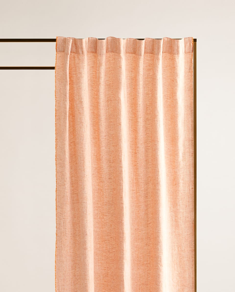 FRINGED LINEN CURTAIN