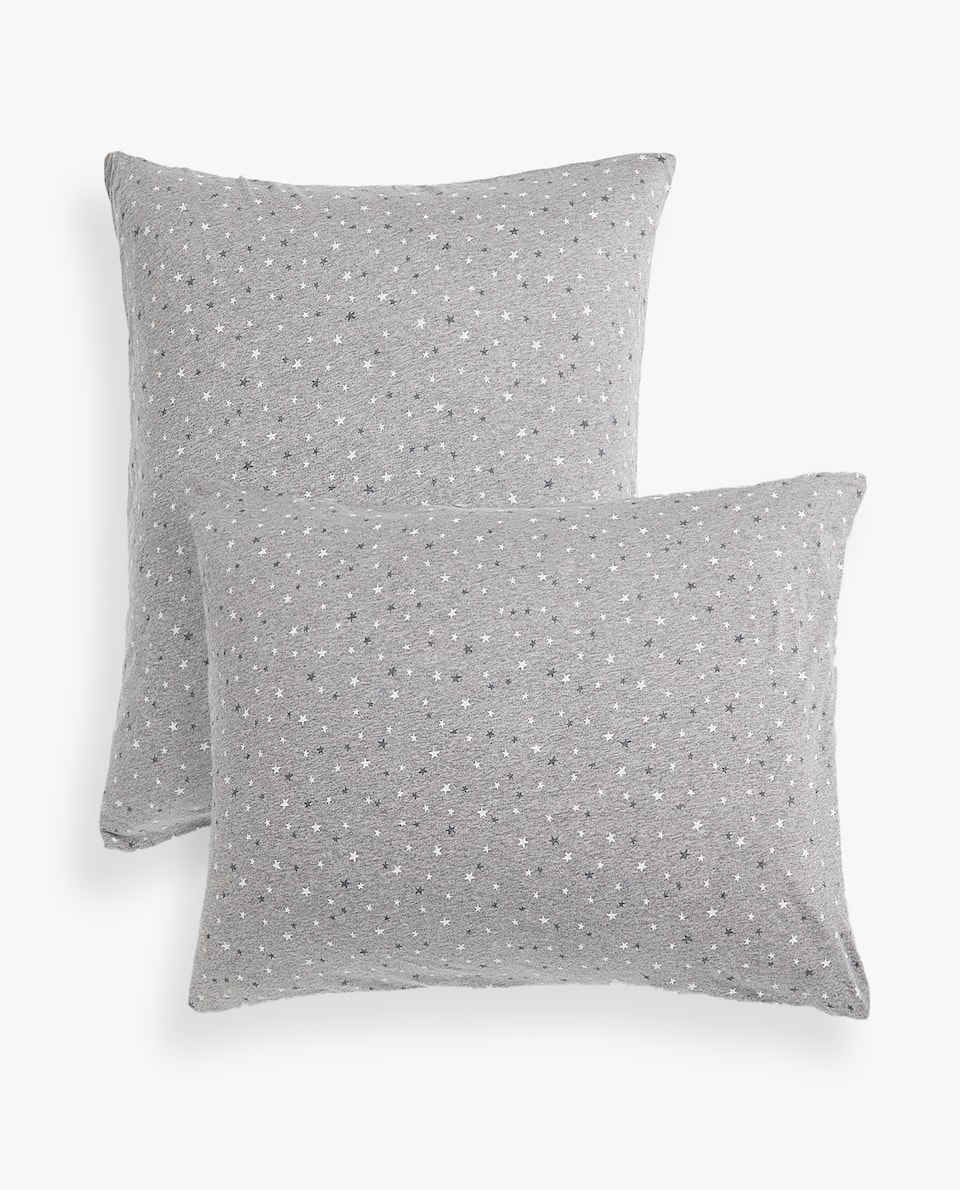 STAR PRINT JERSEY PILLOWCASE