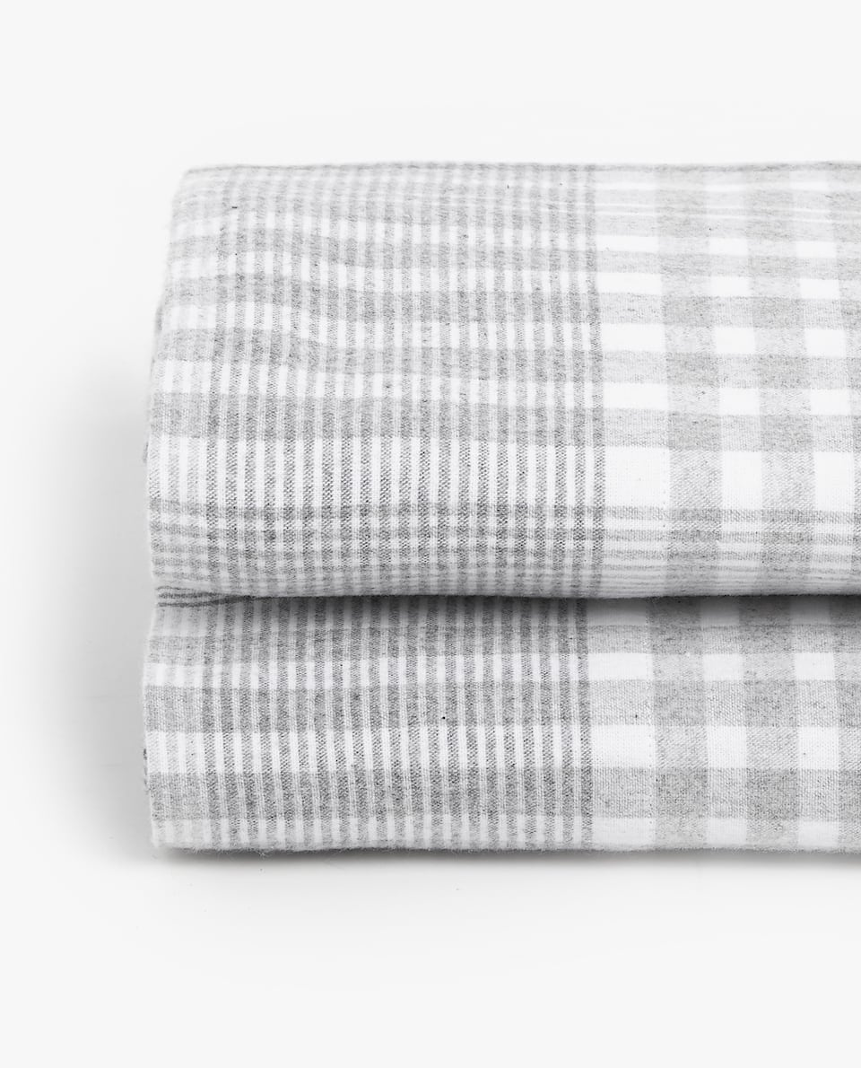 FLANNEL CHECKED FLAT SHEET