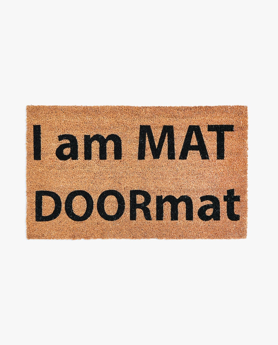 JUTE DOORMAT WITH SLOGAN
