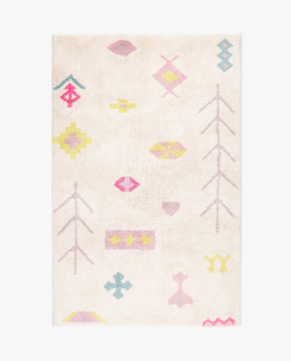 SHAPE DESIGN COTTON RUG