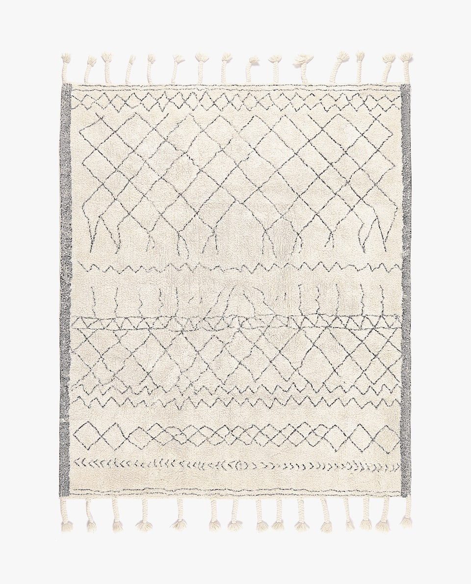 DIAMOND DESIGN COTTON RUG