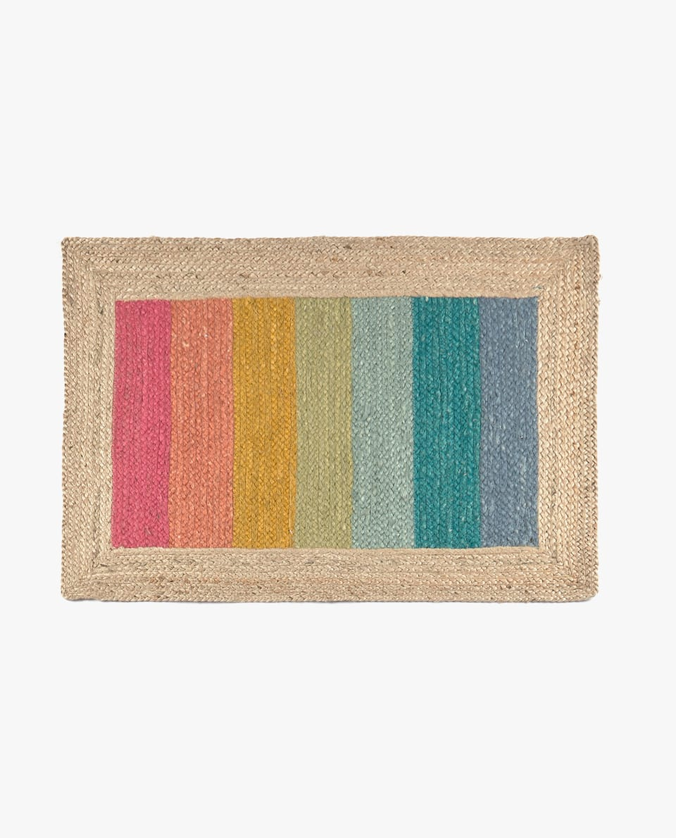 JUTE DOORMAT WITH BORDER