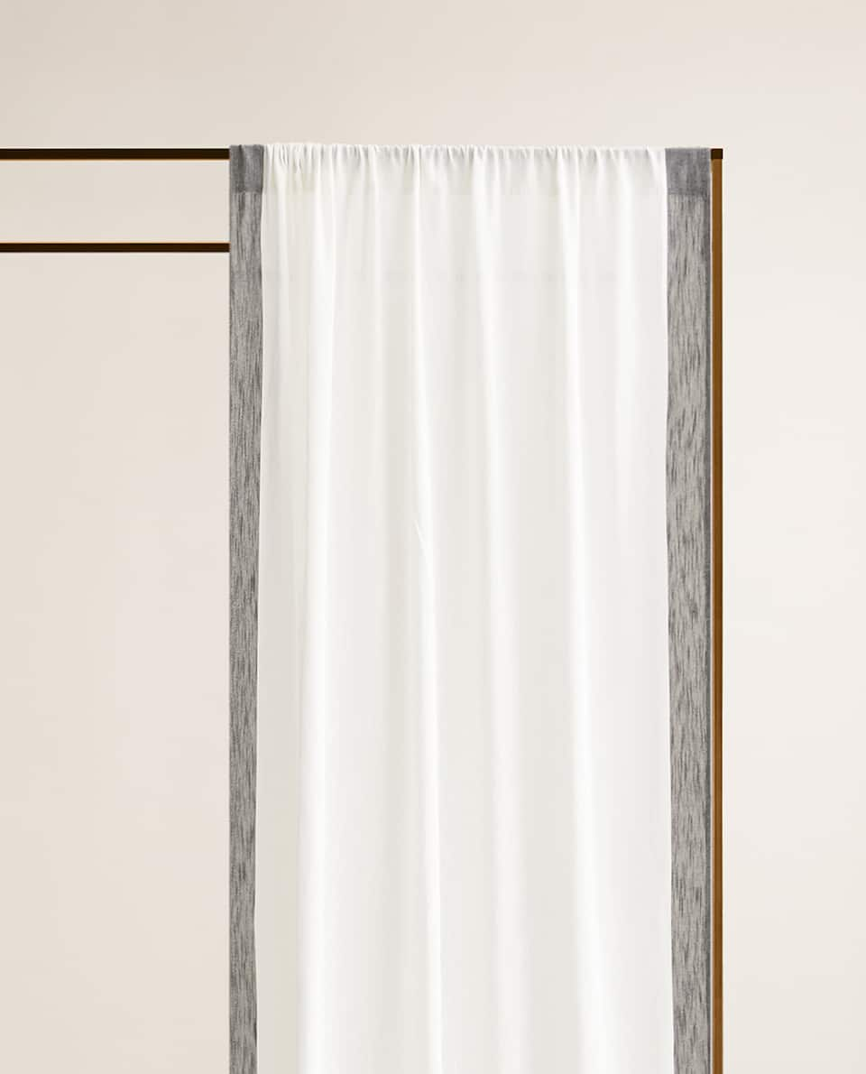 COTTON CURTAIN WITH STRIPE