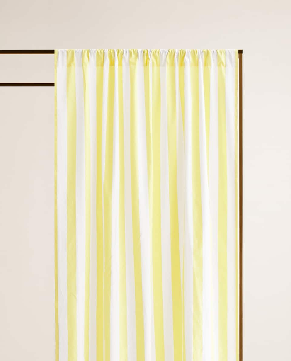 f1038390 STRIPED COTTON CURTAIN - CURTAINS - BEDROOM | Zara Home מְדִינַת ...