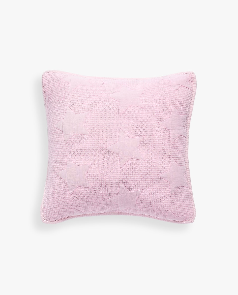 CUSHION COVER WITH RAISED STAR DESIGN