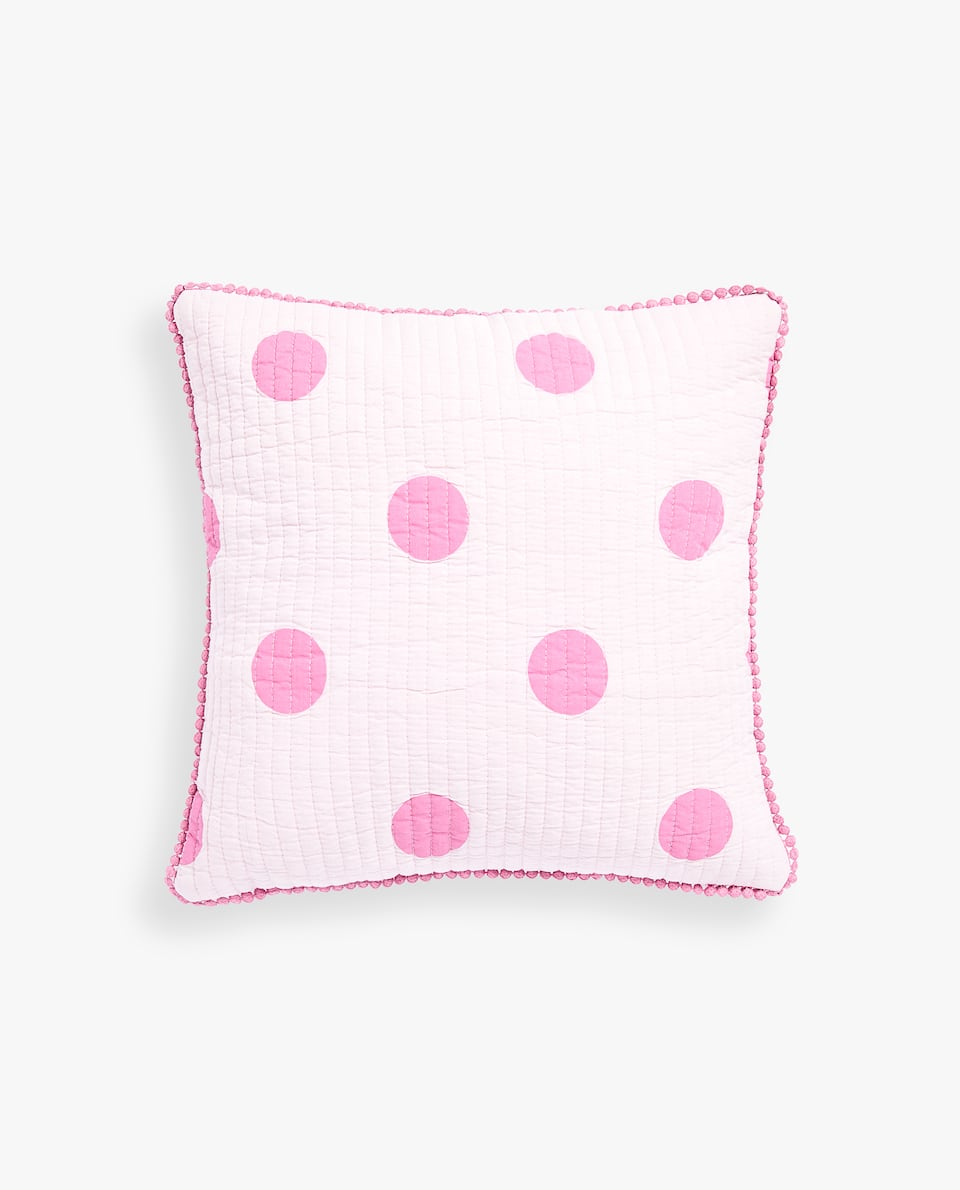 FADED PRINTED COTTON CUSHION COVER