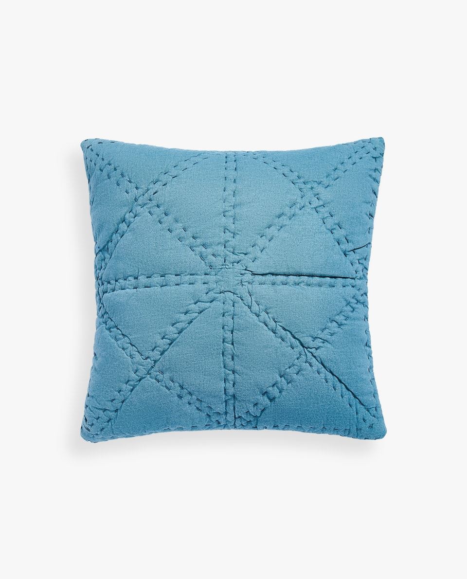 COTTON AND LINEN CUSHION COVER