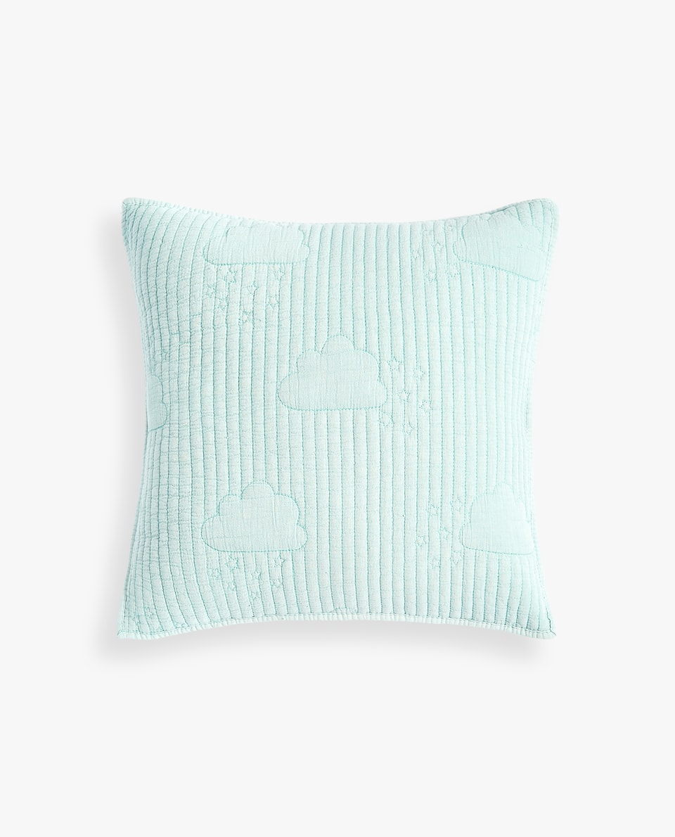 CUSHION COVER WITH RAISED CLOUD DESIGN