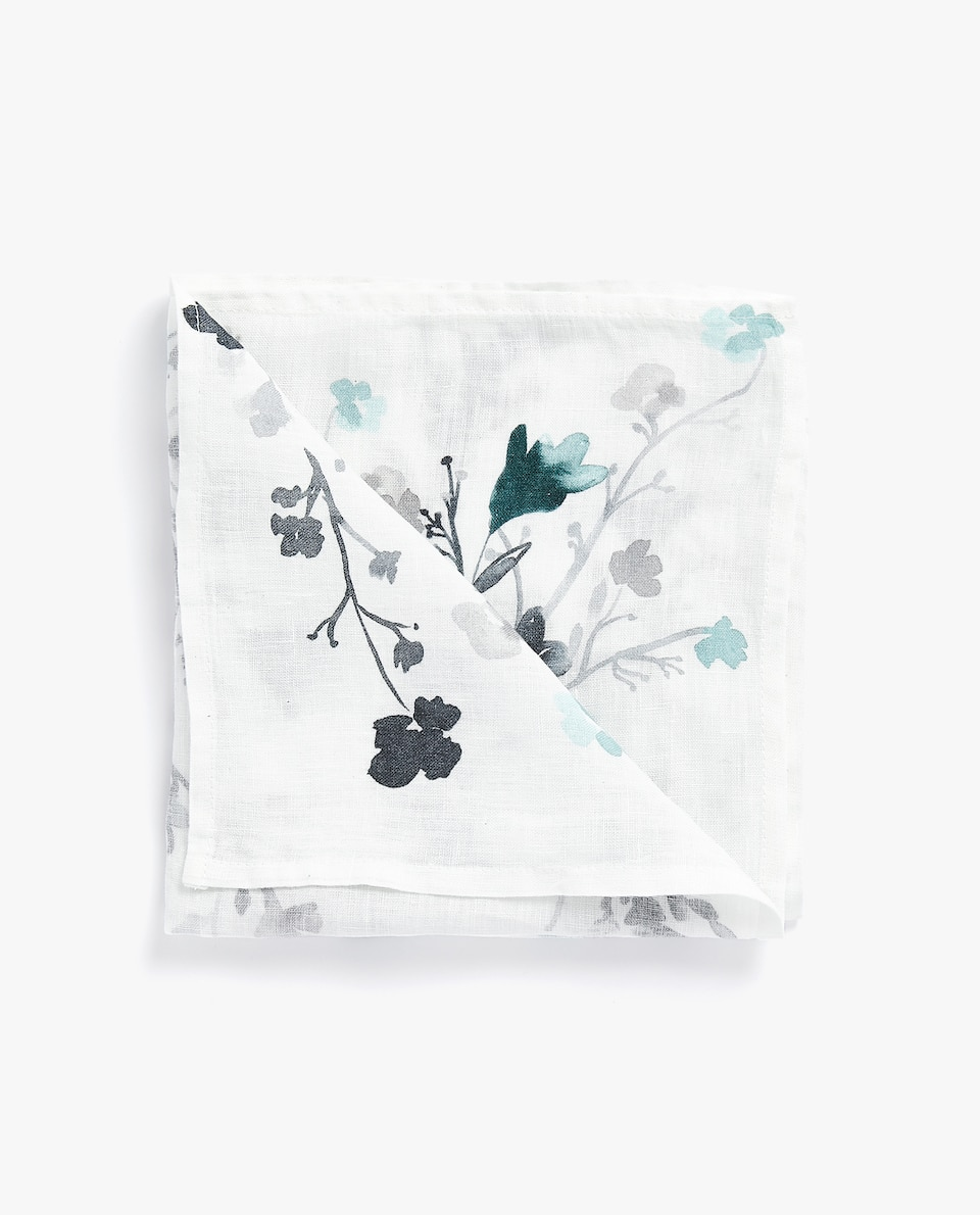 FLORAL LINEN NAPKIN (PACK OF 4)
