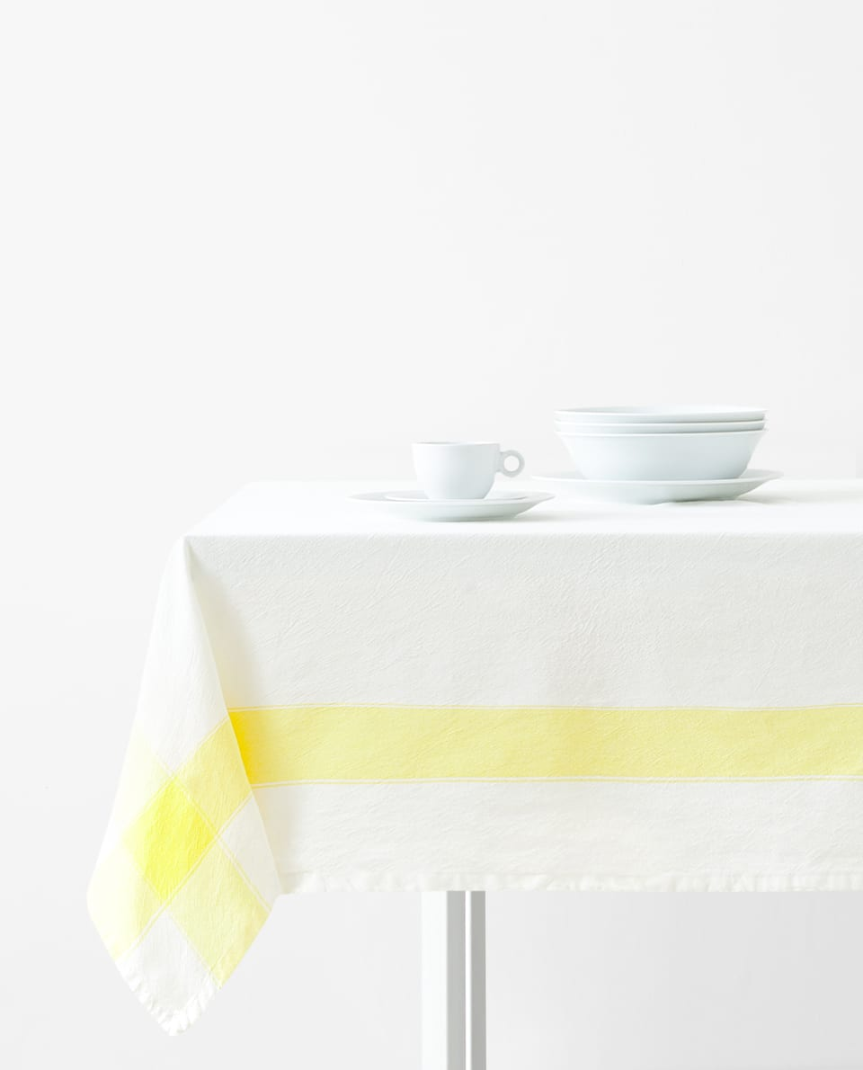 WASHED COTTON TABLECLOTH
