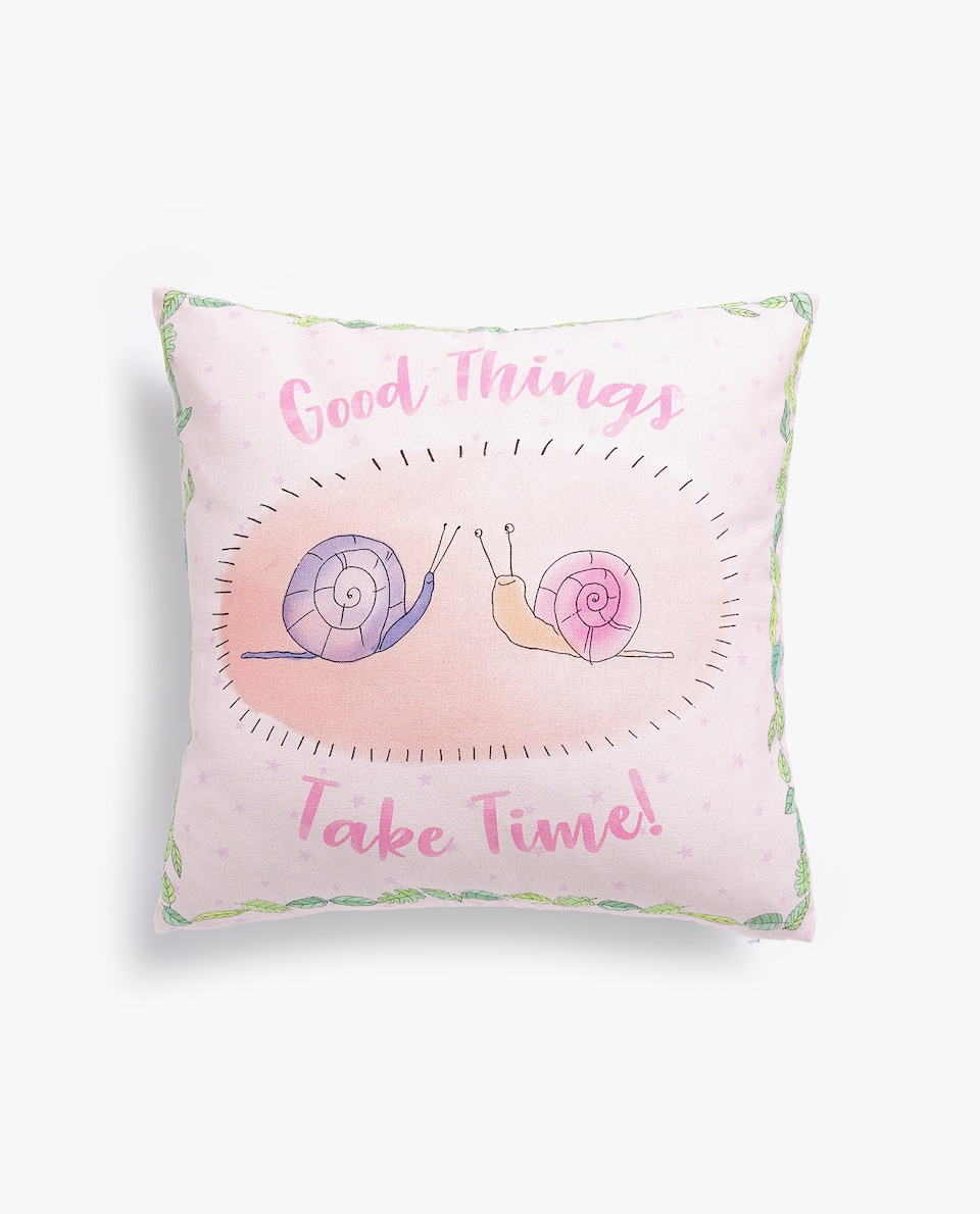 SNAIL PRINT CUSHION COVER