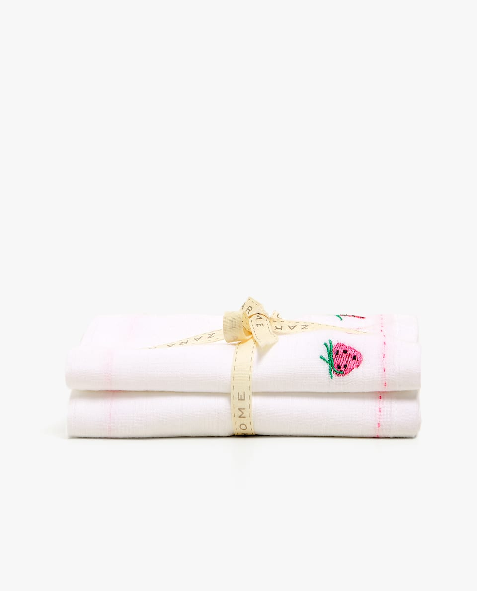 EMBROIDERED MUSLIN (SET OF 2)