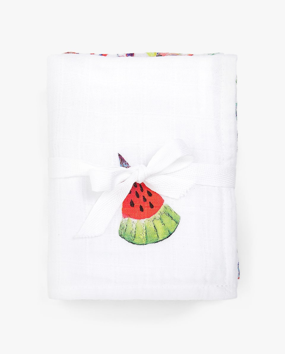 TUTTI FRUTTI PRINT MUSLIN (SET OF 2)