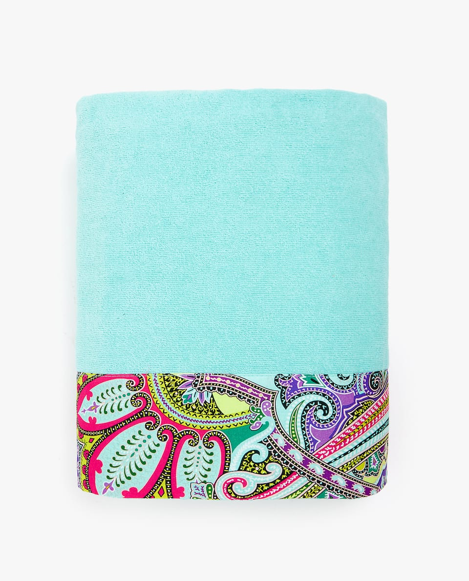 PAISLEY DOUBLE-WEAVE COTTON TOWEL