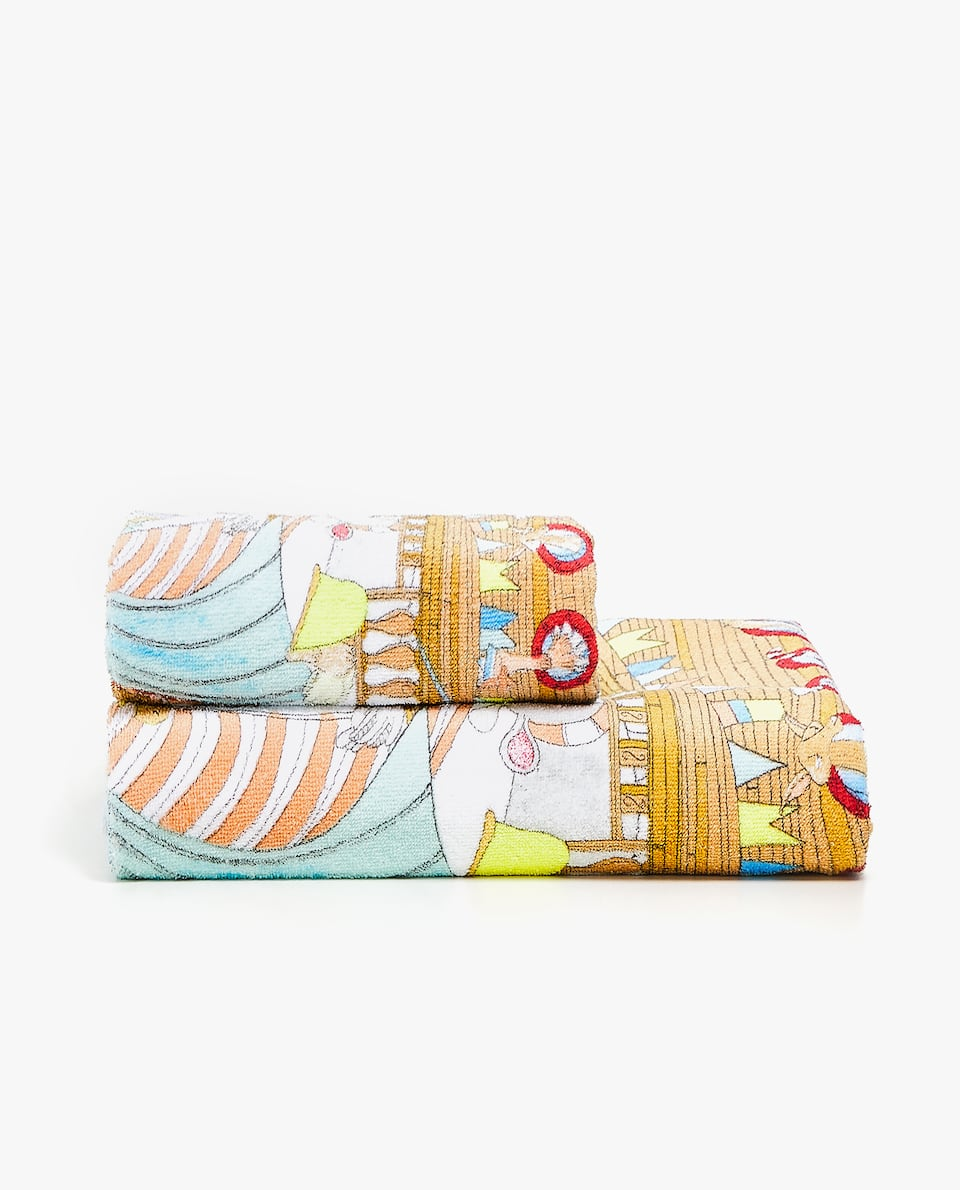 BOAT PLACEMENT PRINT TOWEL