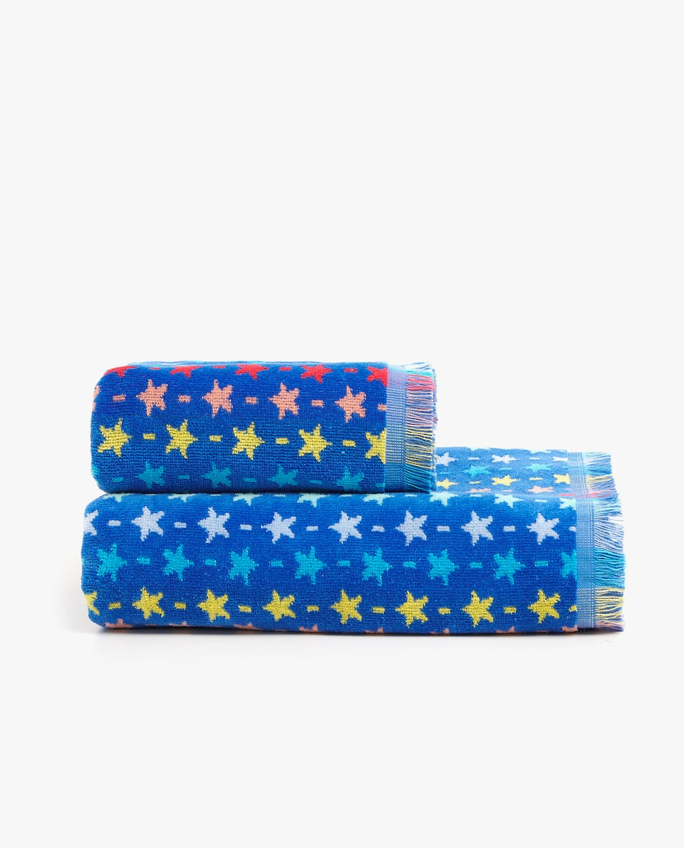 MULTICOLOURED STAR TOWEL