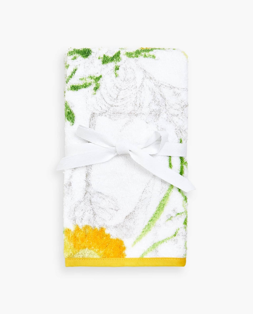 FLORAL PRINT TOWEL (SET OF 2)