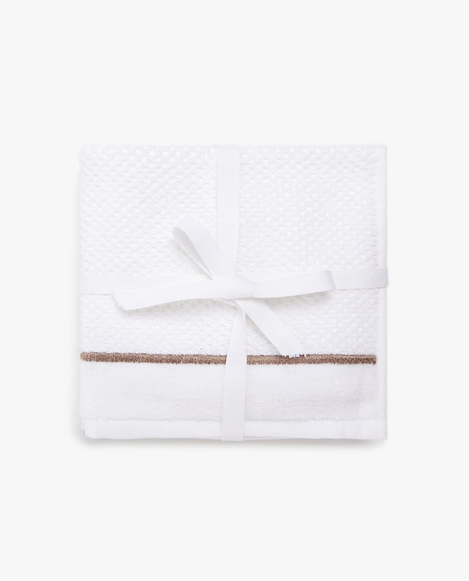 EMBROIDERED SCALLOP TOWEL (SET OF 3)