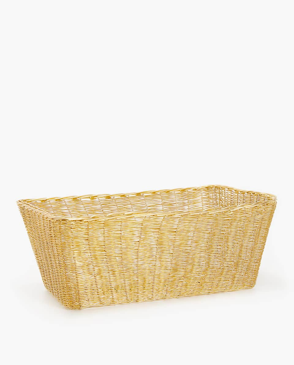 GOLDEN RECTANGULAR BASKET