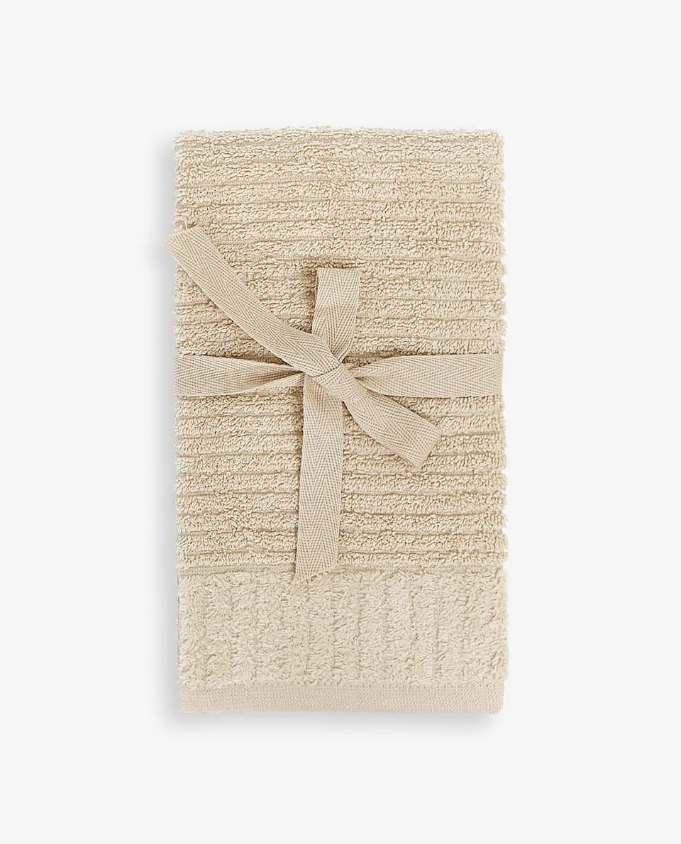 STRIPED JACQUARD TOWEL (SET OF 2)