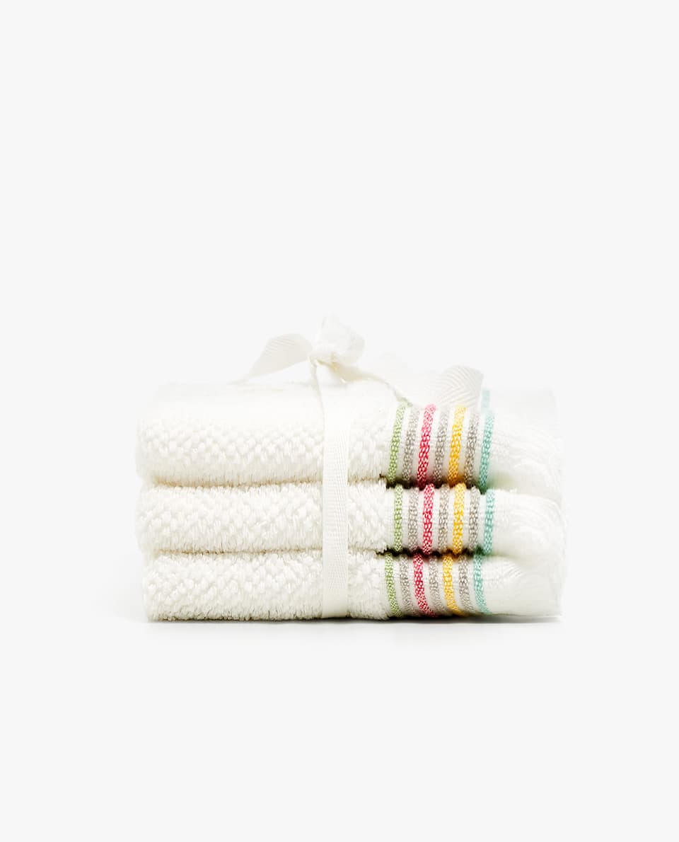 JACQUARD STRIPE TOWEL (SET OF 3)