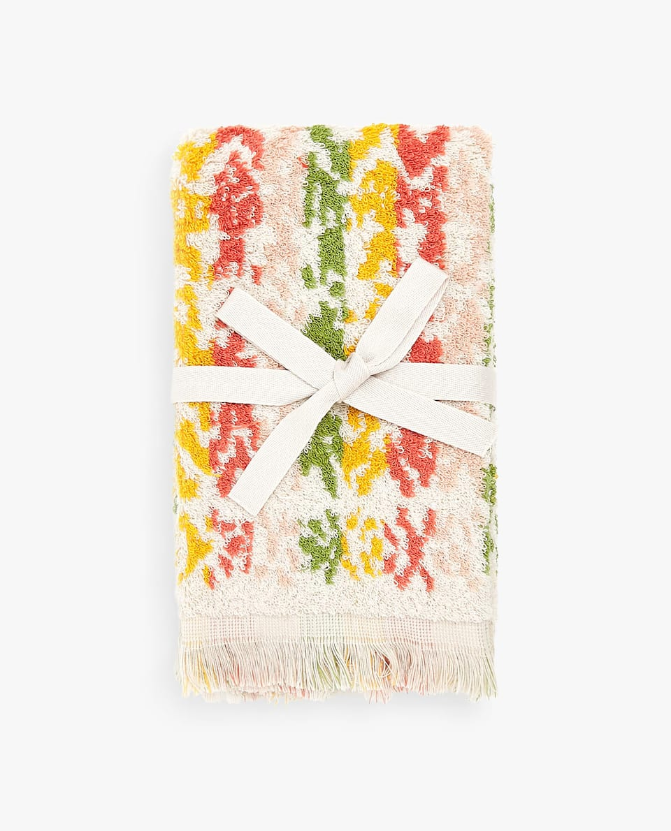 GEOMETRIC MOTIF TOWEL (SET OF 2)