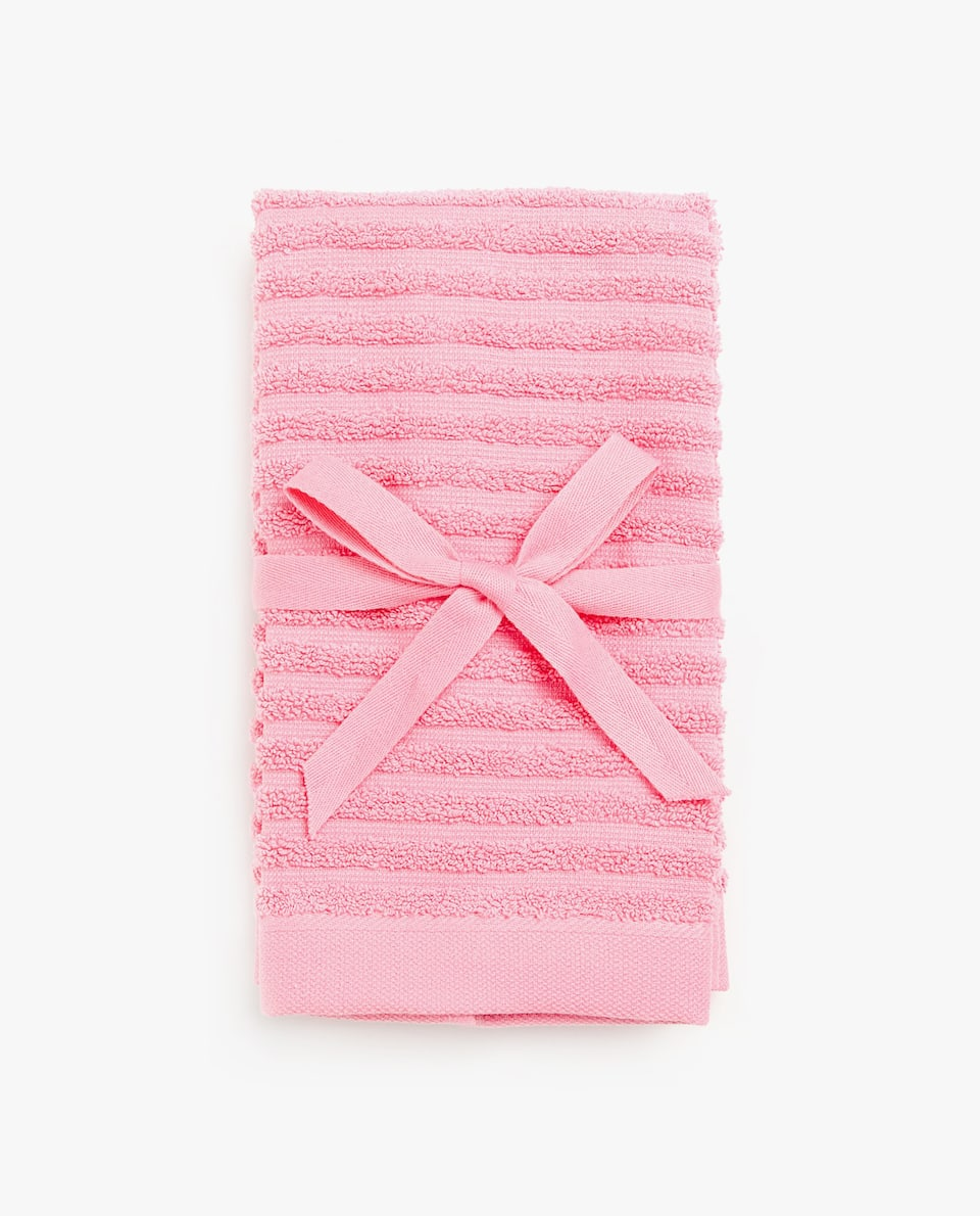 TEXTURED STRIPE TOWEL (SET OF 2)