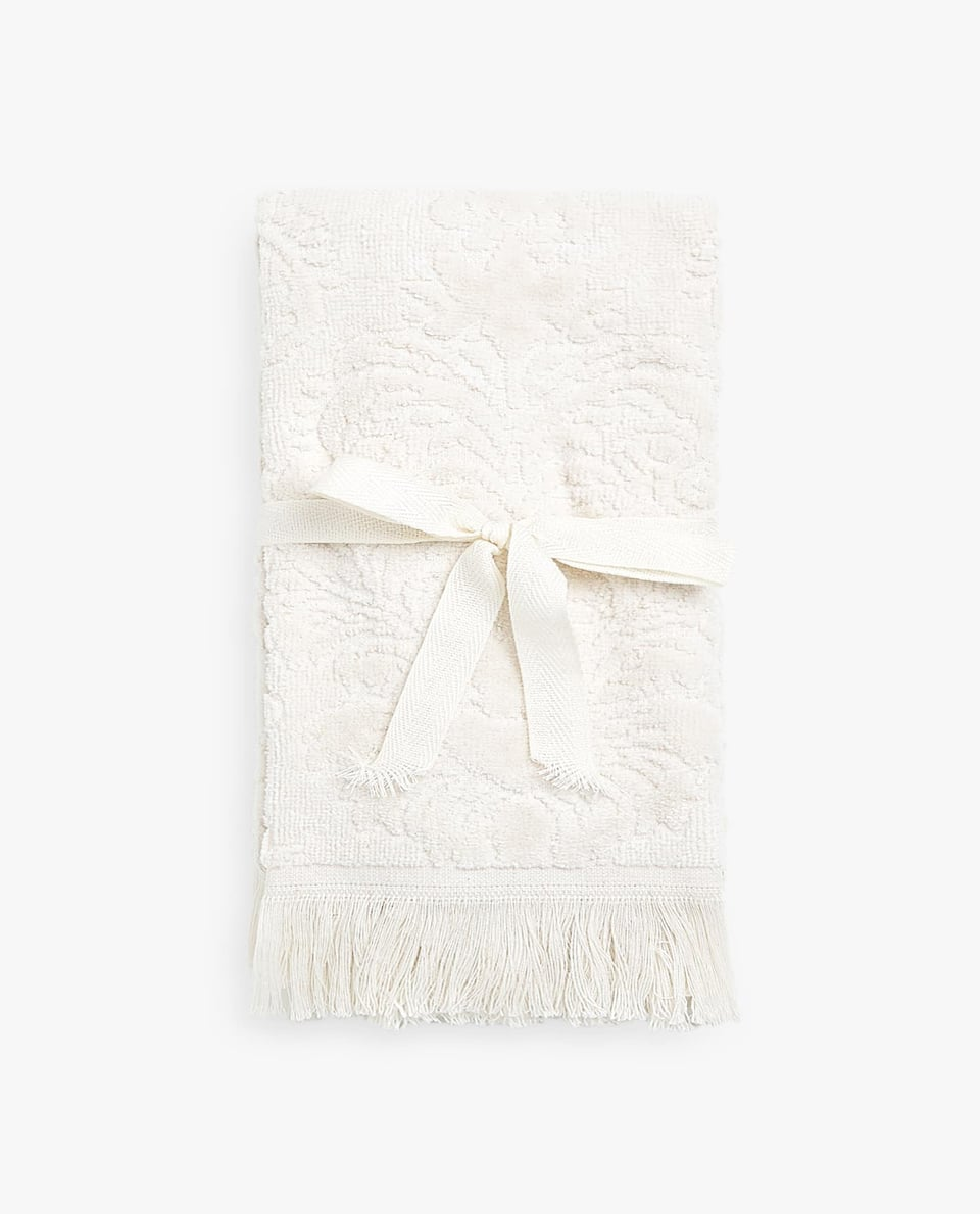 FLORAL JACQUARD TOWEL (SET OF 2)