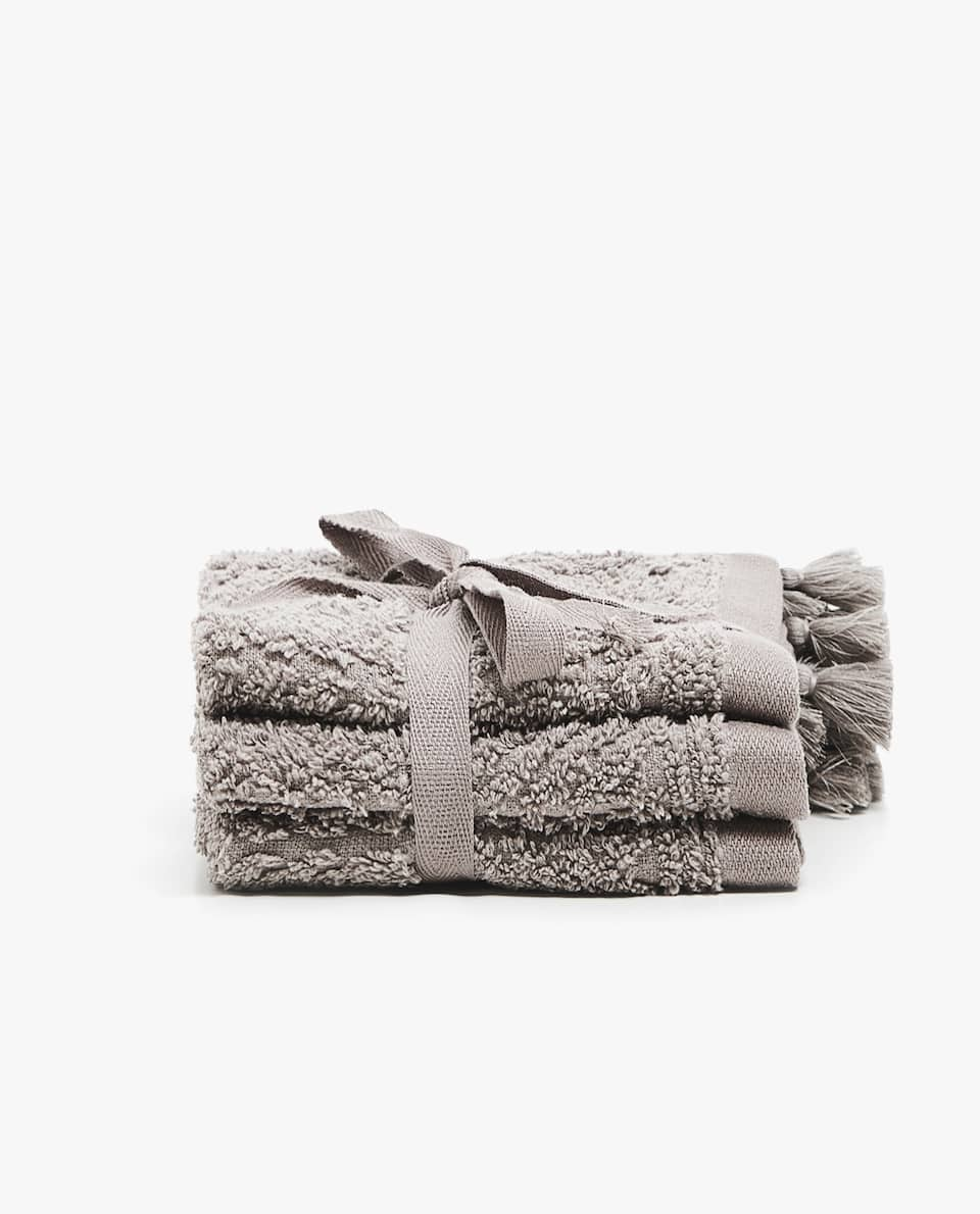 GEOMETRIC JACQUARD TOWEL (SET OF 3)