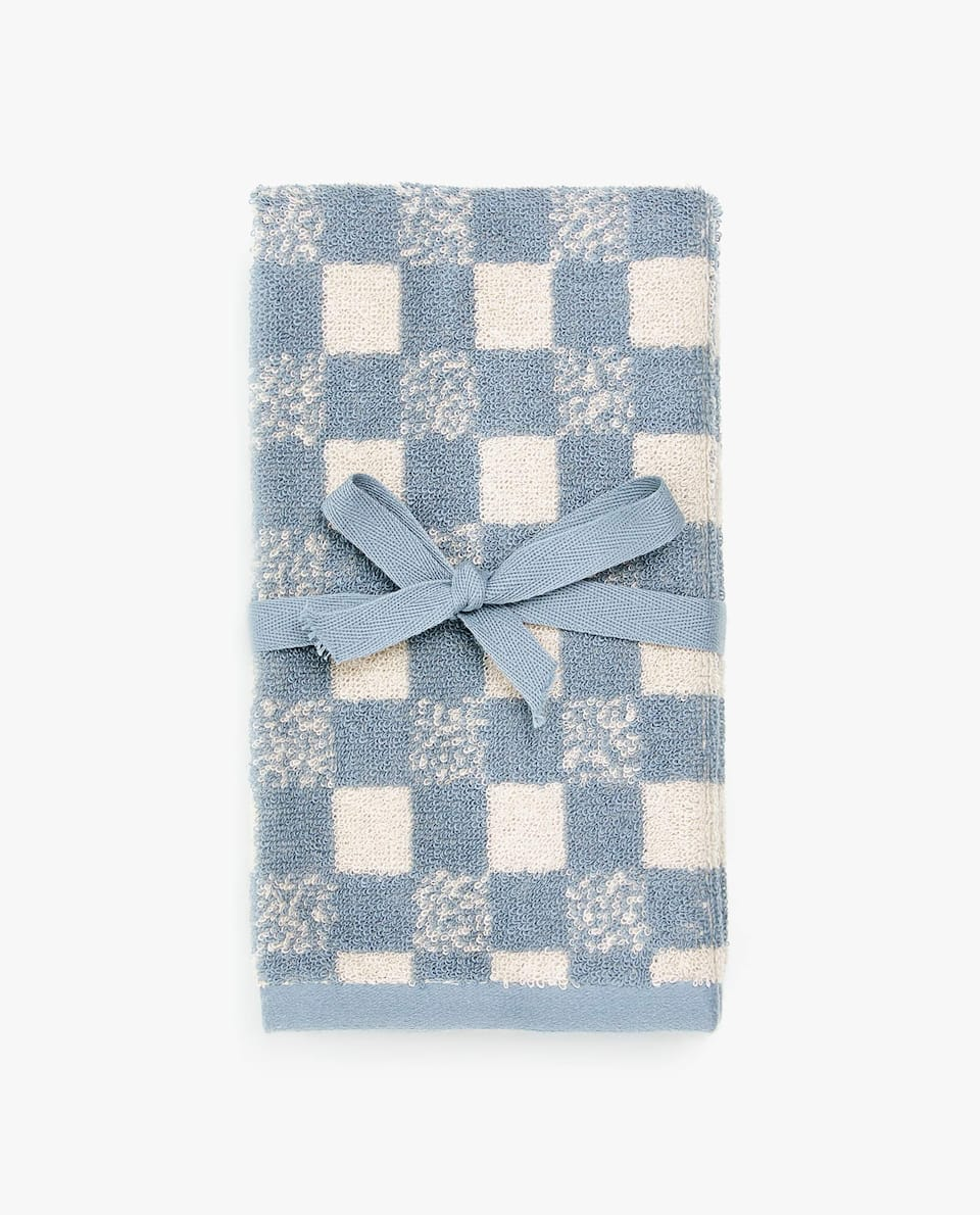 JACQUARD CHECK TOWEL (SET OF 2)