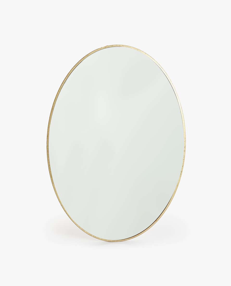 OVAL GOLD FRAME MIRROR