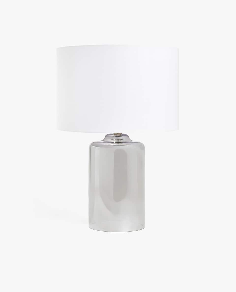 LAMP WITH SILVER BASE