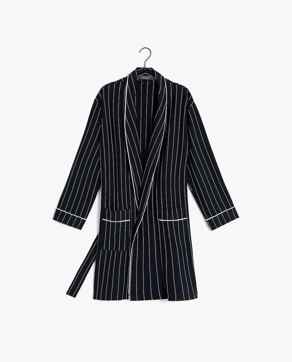 PINSTRIPE DRESSING GOWN