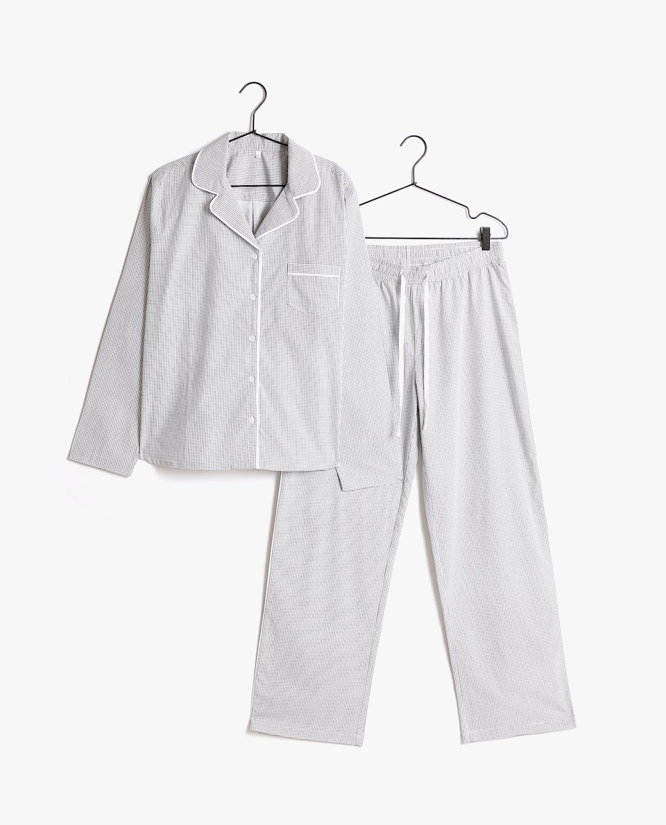 CHECK COTTON PYJAMA SET