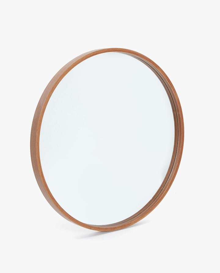 Image Of The Product Round Wooden Mirror