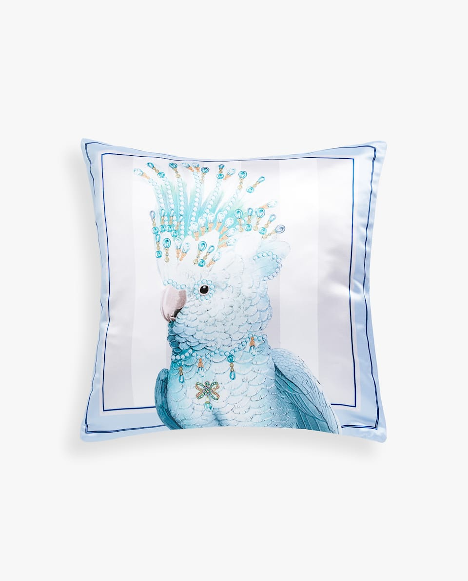 ANIMAL SATEEN CUSHION COVER