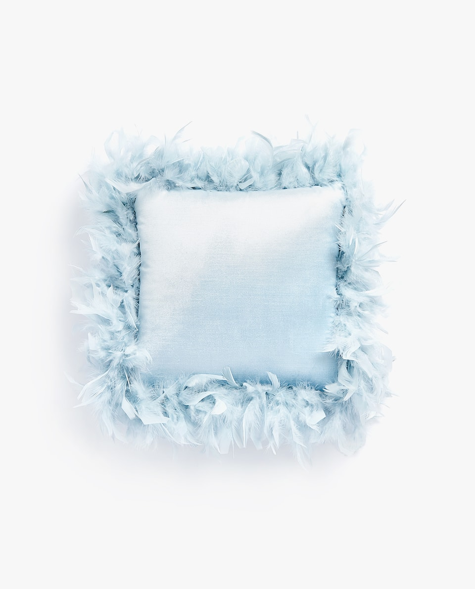 SYNTHETIC FEATHER CUSHION